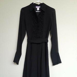 Elegant Vivienne Tam 100% Silk Black dress